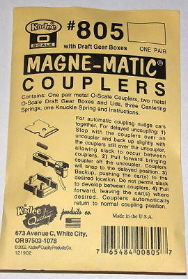 "Kadee O scale # 805  ""All Metal""  magne-matic couplers"