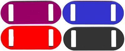 100 Ez Slide On Tags 4 Clrs Laser Engravable 3/4x2