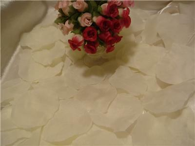 Sale 1000 Silk Ivory Rose Petals Wedding Petal Flowers