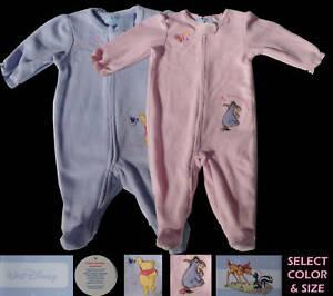 Disney-Pooh-Baby-Girls-Infants-One-Piece-Sleeper-Romper