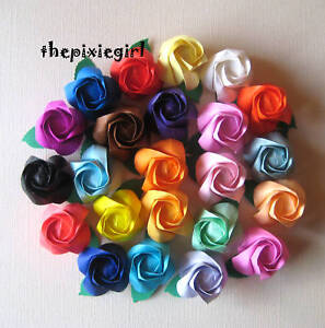 ORIGAMI PAPER HANDMADE 12 FOLDED ROSES YOU PICK THE COLORS