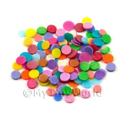 100 Mixed Colour Polka Dots - Nail Art (11ns16)