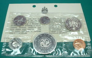 CANADA-1964-PROOF-LIKE-SET-SILVER-6-COINS