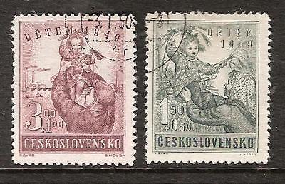 CZECHOSLOVAKIA # B166-7 Used CHILD WELFARE