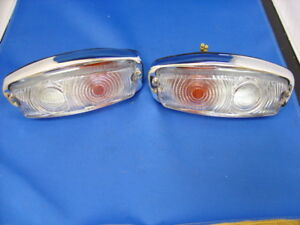 NEW MG MIDGET AUSTIN HEALEY FRONT SIDE INDICATOR LAMPS PAIR