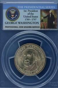 Washington-Dollar-2007-P-D-PCGS-MS65-4-coin-set-FDI