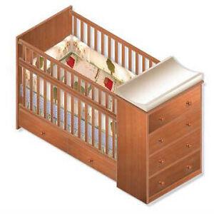 nursery convertible crib full bed woodworking plans ebay. Black Bedroom Furniture Sets. Home Design Ideas