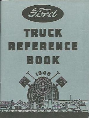 1940 Ford Truck Owner's Manual- V8-85 & 95 H.p.