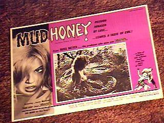MUDHONEY LOBBY CARD #2 RUSS MEYER LORNA MAITLAND '65