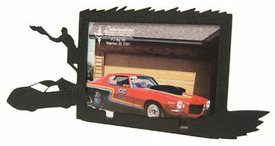 Late Model Race Car Black Metal 3x5h Picture Frame