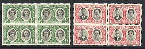 Southern-Rhodesia-1947-Royal-Visit-MNH-blocks-4-stamps