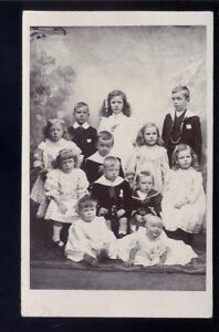 CHILDREN-posing-for-photo-Edwardian-dress-RP-PPC