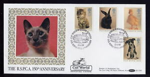 1990 RSPCA Cat World Magazine OFFICIAL first day cover