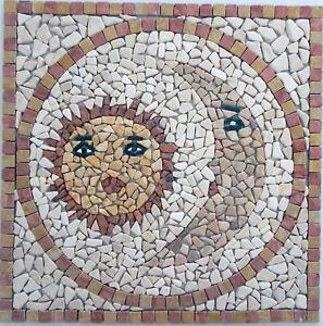 mosaici  in offerta mod.sole luna 60x60 Rosoni in marmo