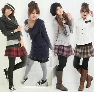 FREE-SHIPPING-Uniform-Plaid-Pleated-Japan-Gray-Red-PInk-Skirt