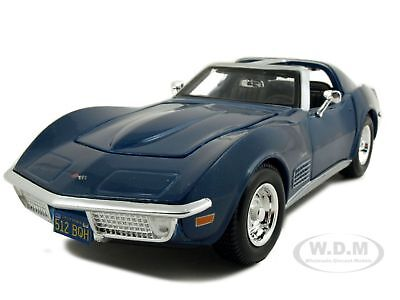 1970 CHEVROLET CORVETTE BLUE 1:24 DIECAST MODEL CAR BY MAISTO 31202