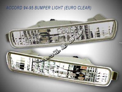 94-95 Honda Accord Front Bumper Lights Clear 2/4 Doors