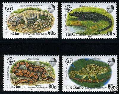 GAMBIA WWF SCOTT#432/35  MINT NH