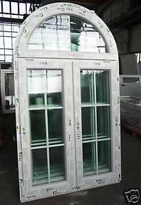 Fenster mit t sprossen  NEUE Fenster mit Sprossen Kunststofffenster Rundbogenfenster ...