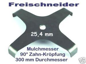 Freischneider Mulchmesser 4-300 / 25,4 / 90° 3mm Dickichtmesser für Motorsense