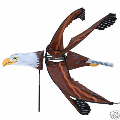 Flying Bald Eagle Lawn & Garden Wind Spinner by premier designs -Click for video Garden