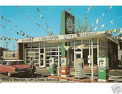 1950's Marion Oh Cities Service Gas Refrigerator Magnet Gift Card Insert