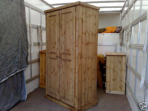 Factory Clearance Aylesbury Handwaxed Full Hang Double Wardrobe