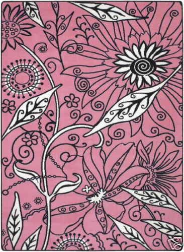 Seventeen Magazine Flower Funky Rug Pink 5x8 5 X 8 Girls Teen Childrens Surya