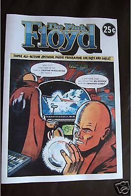 Pink Floyd Reproduction 1975 16 page Tour Program Comic