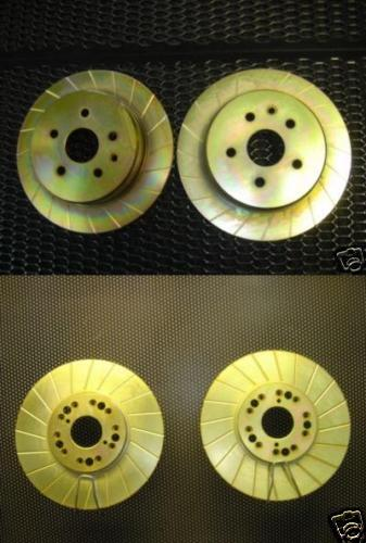 LEXUS IS300 GS300 GS400 GS430 GROOVED BRAKE DISCS FR RR