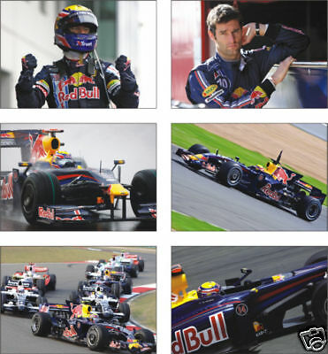 Mark Webber F1 Formula Legend POSTCARD Set