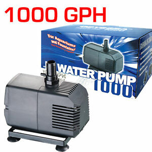 Water-Pump-1000-GPH-Aquarium-Pond-Fountain-Sump-Wet-Dry-Filter-Submersible