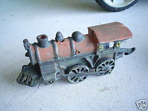 OLD Cast Iron Locomotive 50 Black LOOK
