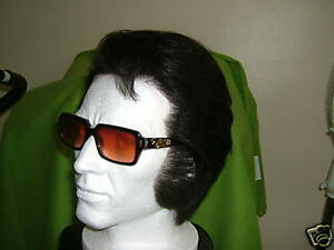 ELVIS IMPERSONATOR  PROFESSIONAL HUMAN HAIR L FRONT WIG FOR JUMPSUIT