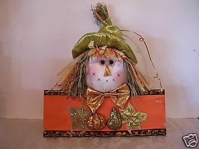 Plush Shiny Scarecrow Pumpkin Thanksgiving Decoration