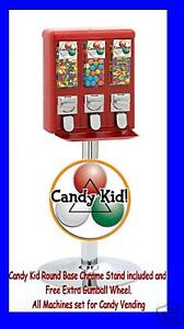 Red Black Yellow - Candy Kid Triple Vending Machines