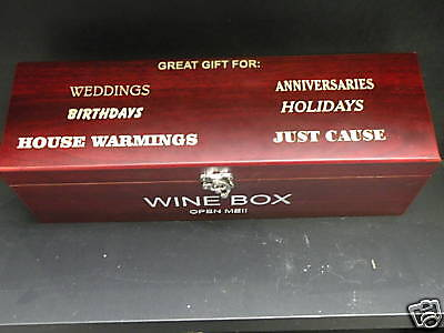 Personalized Wine Gift Box W/ Tools - Free Engraving