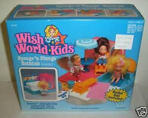 Nunca quitado de la Caja Vintage Kenner deseo World Kids sponge'n hundir Bañera Con Rachel