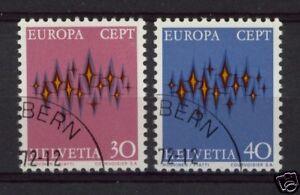 Switzerland-1972-SG-829-30-Europa-Cto-Used-Set