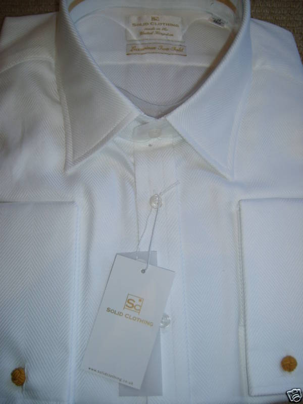 Solid Clothing White Lux Wide H'bone 19 W/links