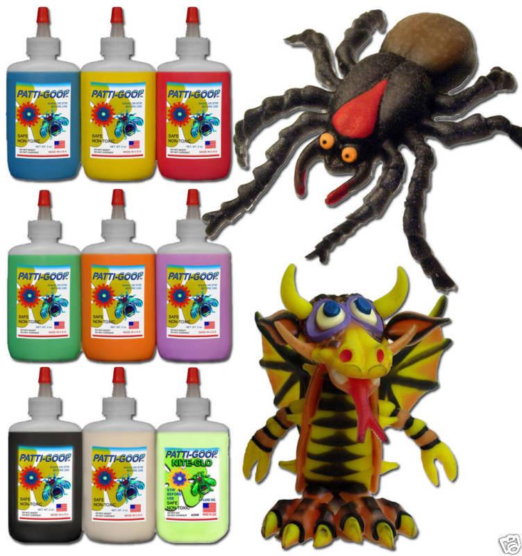 Patti-goop 9-pack For Thingmaker Creepy Plasti-goop Crawlers Bugmaker Mattel