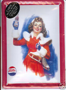 Platte Metall 40x30 cm PEPSI COLA PIN UP -schuhe EIS