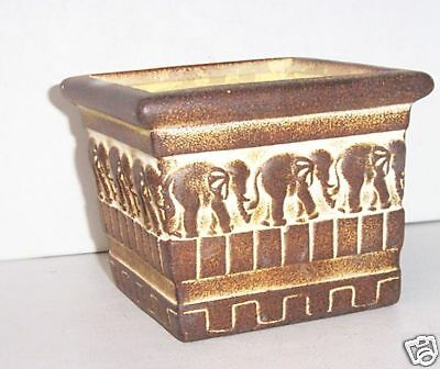 Square Candle Container Featuring Safari Elephant -