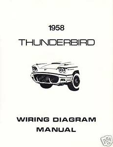 1958    FORD       THUNDERBIRD    WIRING    DIAGRAM    MANUAL   eBay