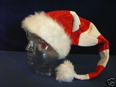 Weihnachtsmütze Weihnachtsmann Mütze RINGEL NEU Xmas Geschenkidee HUT Weihnacht