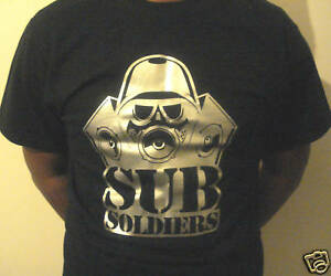 SUBSOLDIERS-T-SHIRT-Black-Silver-Logo