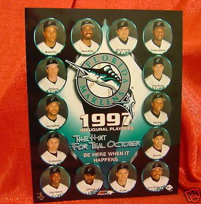 Florida Marlins 1997 Inaugural Playoffs 8X10 Photo Mlb