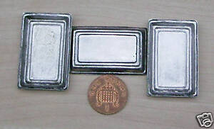 1-12-Scale-3-Tin-Trays-Dolls-House-Miniature-Metal-Food-Tray-Accessory-L