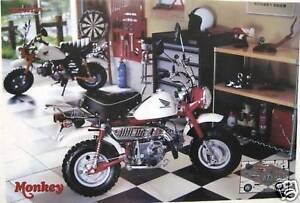 Honda z50 monkey mini bike poster 2 models inside work for Garage scooter 95