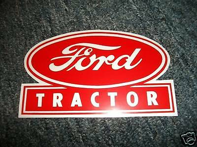 Ford Tractor 5 Inch Decal - Red Decal Sticker
